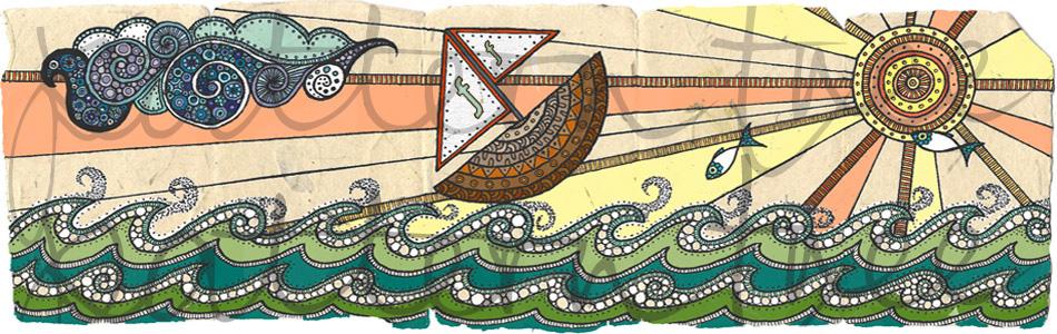 'Seascape' Website header for fourfootprints.com