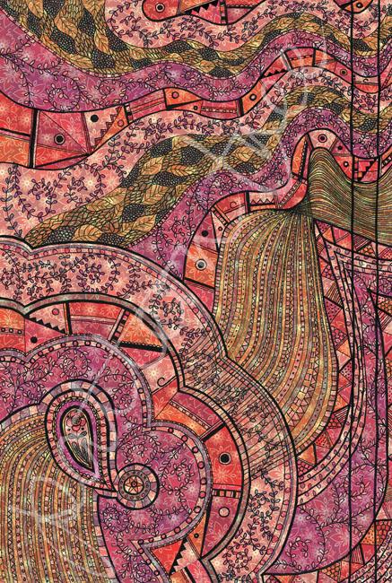'Doodle pattern no.2' Original ink on paper 20 x 29cm. Digital illustration.
