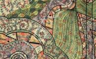 'Doodle pattern no.3' Original ink on paper 20 x 29cm. Digital illustration.